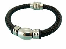 Leather Bracelet Stainless Steel Magnetic Clasp 8MM Premium Quality Range LB62