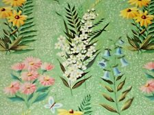 Vtg Wrapping Paper 19� x 25� Nos All Occasion Gift Wrap Floral Ferns Beautiful