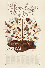 Chocolate Educational Food Poster Poster Print by Naomi Weissman, 24x36