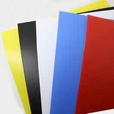 A3 A4 A5 Coloured Polypropylene Plastic Sheet Making DIY Arts Crafts 0.5mm Thick