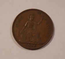 ONE PENNY INGHILTERRA di 1946 Giorgio VI Great Britain England moneta (b9)
