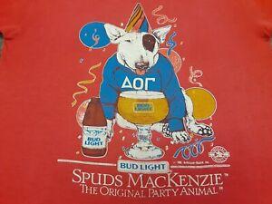 VTG 80s BUD LIGHT Beer SPUDS MACKENZIE Party Animal Budweiser T Shirt Small M ??
