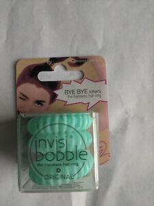 Invisibobble Ponytailer Traceless Coil Spiral Hair Ring Blue - 3 Pack