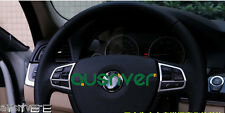Chrome Car Auto Steering Wheel Trim Button Decoration Cover For BMW 525i 520i