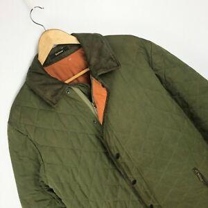 Barbour Men's D598 Quilted Jacket L Large Green OU019