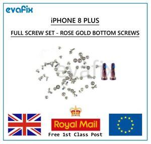 New OEM iPhone 8 Plus Full Screw Set Rose Gold Bottom Pentalobe Screws