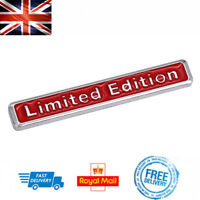 RED LIMITED EDITION 3D Boot Badge Emblem Car Sticker Auto Chrome For Audi BMW VW