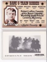 Butch Cassidy Laramie Wyoming State Prison Drivers License TRAIN fake id card
