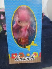 BASAAK DARK PINK HAIR BLYTHE CLONE DOLL WITH OUTFITS, STAND , SHOES NEW IN BOX !