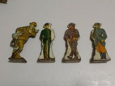Set of 4: Vtg Marx Tin/metal Toy Soldiers Target, Infantry, Rifle Corps, flats