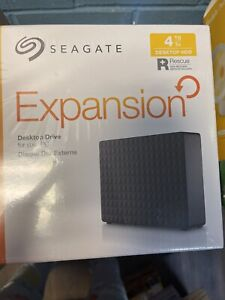Seagate Expansion Desktop 4TB USB 3.0 External Hard Drive - STEB4000100 - New!