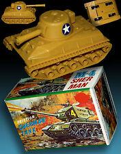 Sherman m-4 carri armati in ORIGINAL BOX OVP Hong Kong 70er ww2 Sherman tank Boxed 70s