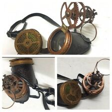 Steampunk3D Mad Scientists Goggles Magnify&copper Skull Details