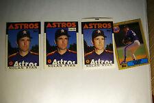 Lot (3) 1986 Nolan Ryan Baseball Cards Topps OPC Brookshire Angels Mets w/ Bonus