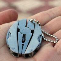 Pocket Multi Function Tools Set Mini Foldaway Keychain Screwdriver Pliers Knife