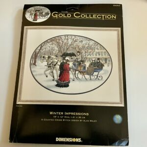 Dimensions * Winter Impression * Gold Collection Cross Stitch Kit NEW
