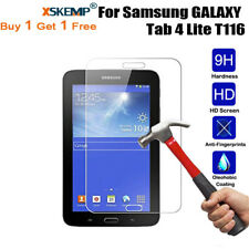 2X 100% Genuine Tempered Glass Screen Protector Guard For Samsung Galaxy Tablets