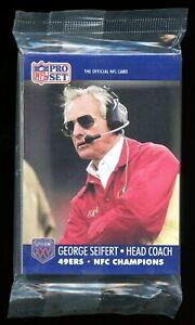 1990 Pro Set SAN FRANCISCO 49ers NFC Champions Super Bowl XXV ERROR Joe MONTANA!