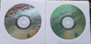 2 CDG DISCS HANK WILLIAMS CLASSIC COUNTRY KARAOKE CLASSICS CKC37,CK39 CD+G
