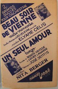 Partition ancienne: BEAU SOIR DE VIENNE Musique:  LELIEVRE LEO