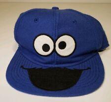 Cookie Monster Sesame Street Mupoet Character Snapback Blue Hat Cap OSFM