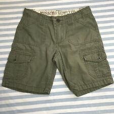 Mossimo Supply Co Girls Cargo Shorts Sz L Army Green Bottoms Adjustable Waist