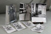 6 ältere Fotografien - wohl 50/60er Jahre - Mode und Wohnen - schwarz/weiss /345
