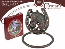 "7""x5.5""x1.5 4; Horseshoe Knocker in a Gift Box, Horse Collection Vintage Knocker"