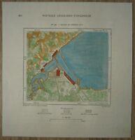 1892 Perron map DULUTH, MINNESOTA & SUPERIOR, WISCONSIN (TWIN PORTS) (#118)