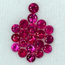 3.55 Cts Natural Top Pigeon Blood Red Ruby Diamond Cut Round Lot Burma 3.5 mm $