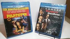 Pulp Fiction 1994(Blu-ray+UV)+Glengarry Glen Ross 1992(Bluray+UV)-NEW-Free S&H
