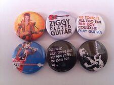 6 Ziggy Stardust Pin Button badges 25mm David Bowie Suffragette City Starman