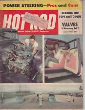 HOT ROD Magazine / August 1956 / Power Steering Pro's & Cons / Valves Necessary