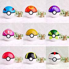 9PCS Pokemon  Pikachu Pokeball Pop-up Master Great Ultra GS Poke Ball Toys Gifts