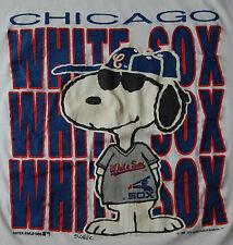 Rare Vtg 1980s Peanuts Snoopy Chicago White Sox Artex Mlb T Shirt Hip Hop Usa M
