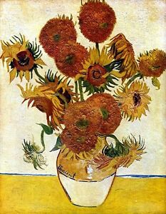 Still Life With Sunflowers Canvas or Fine Art Print by Vincent van Gogh Poster