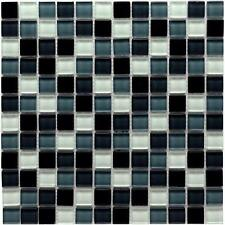 Glass mosaic tile, black white grey  model cp1390 ( SAMPLE )