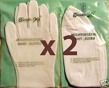 4 Pairs of Cotton / Spandex Touch Me Moisturizing Hand Gloves Foot Socks