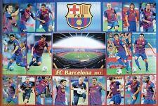 BARCELONA ASIAN FOOTBALL POSTER:PLAYERS, STADIUM & LOGO