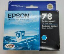 GENUINE Epson 78 T0782 Cyan Ink for Artisan 50 Stylus R260 R280 R380 RX580 RX595