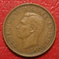 1947 Canada Cent Penny , Circulated , Canadian Coin , Free Shipping!