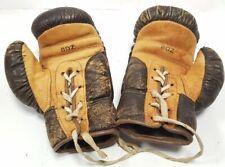 pareja de guantes de BOXEO para niños! de los años 50 de 6 onzas boxing gloves