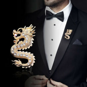 Retro Dragon Brooch Men Clothing Decorative Brooch Accessories Newly