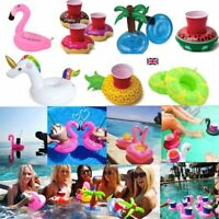 Inflatable Floating Drink Can Cup Holder Hot Tub Swimming Pool Beach Party Toys