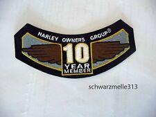 Harley Davidson  HOG  BRUST- o. ÄRMEL PATCH 10 Jears Member  NEU!