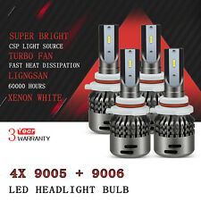 AUXITO 9005 + 9006 LED Headlight kit xenon white CSP Chip High Low beam Bulb D3