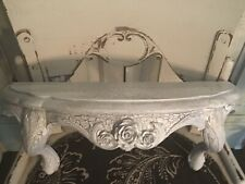 Shabby Bed Crown / Shelf Vintage Style with Roses