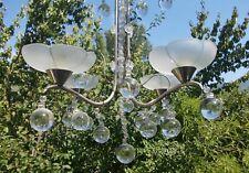 Lustre époque Art Deco pampilles forme boule
