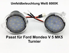 2x TOP LED SMD Runde Umfeldbeleuchtung Weiß Ford Mondeo V 5 MK5 Turnier (7909)