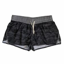 Vuori Shorts womens S Gray Black Camo High Rise Clementine Running Drawstring